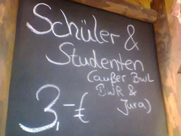 NUR FÃR SPAM Schild/ Studenten